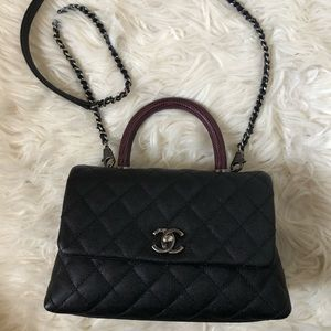 Chanel Mini Coco with Lizard Handle